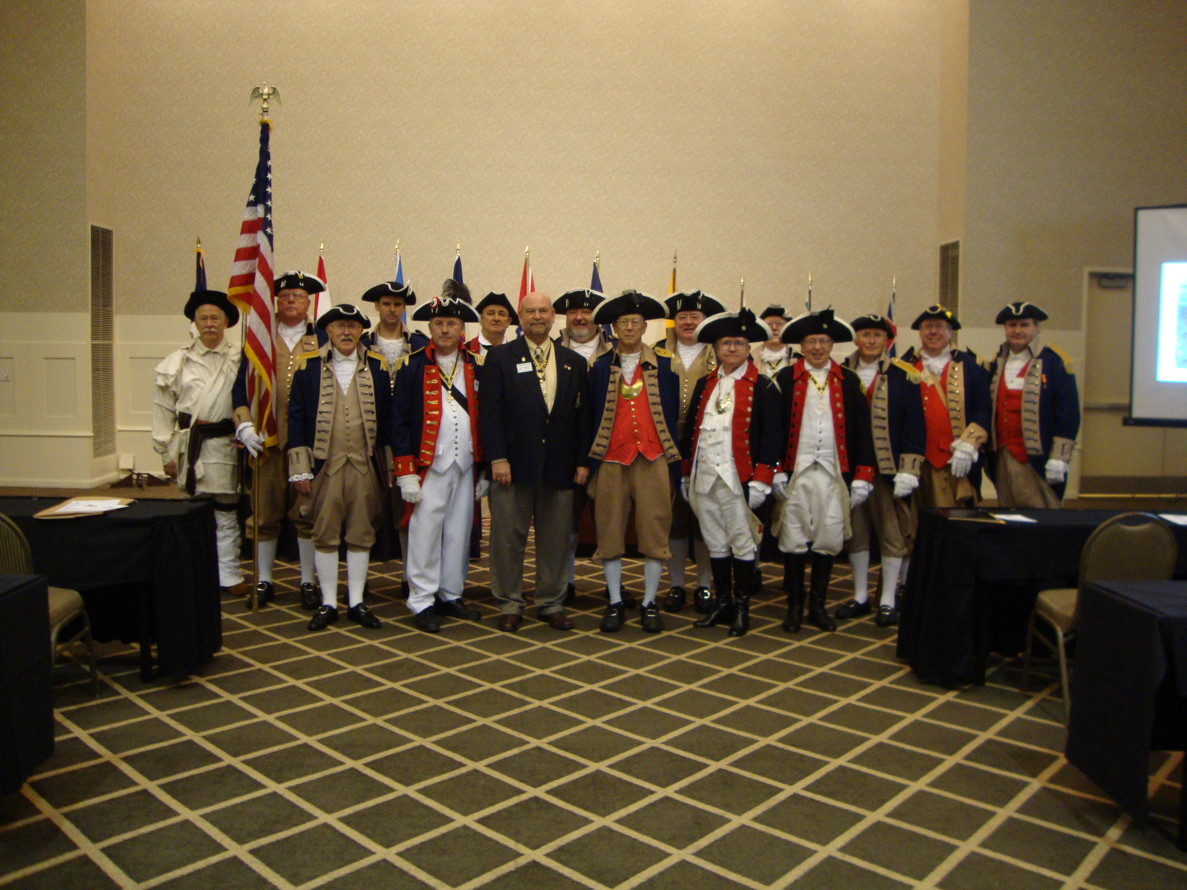 The South Central District Color Guard is shown here participating at the South Central District Annual Meeting at the Sheraton Overland Park Hotel, in Overland Park, Kansas on August 26-27, 2011.