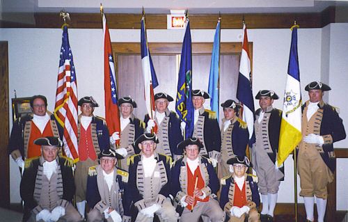 SCD Color Guard Team at KSSSAR, BOG Meeting, Wichita, Kansas on August 25, 2001