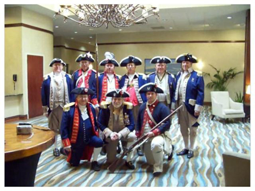 The South Central District Color Guard is shown here participating at the South Central District Annual Meeting at the Westin Hotel in Irving, Texas on August 21-22, 2009