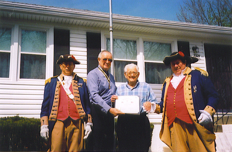 Flag Certificate Presentation to Maurice M. Miller on April 9th 2005