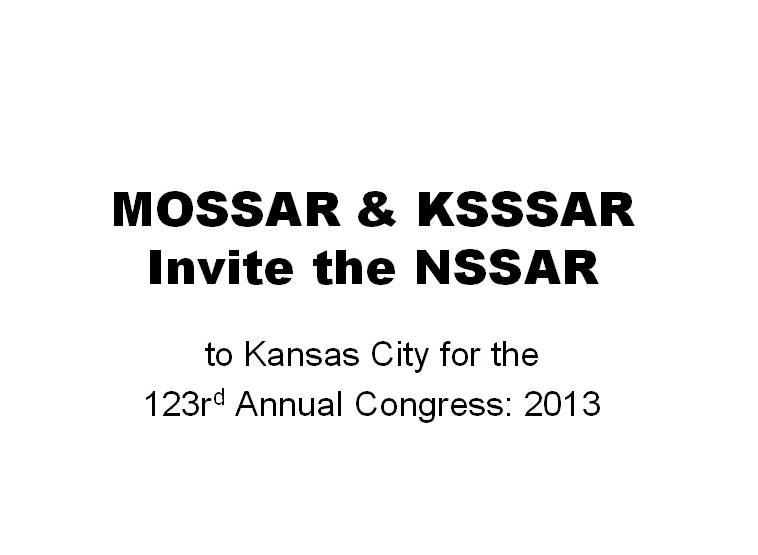 2013 NSSAR Congress
